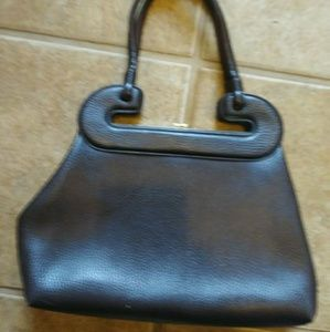Handbags - Vintage 1970s Brown Leather Purse Handbag Bag